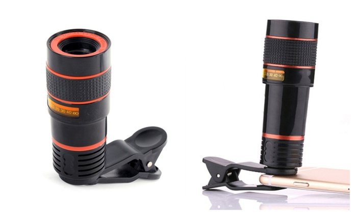 Zoom telescope lens with universal clips for samsung and