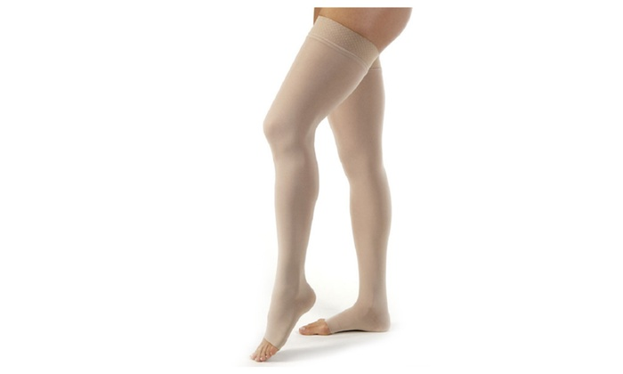 9d84ab480 Jobst Ultrasheer 15-20 mmHg Open Toe Thigh High Compression Stockings