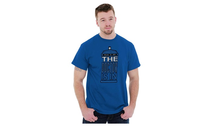 b377acde940 The Doctor Is In Funny Dr Who BBC Time Lord Tardis T Shirt Tee ...