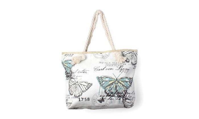 Blue Aztec Print Tote Bag