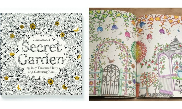 Groupon Goods Doodle Art Adult Coloring Book By Secret Garden