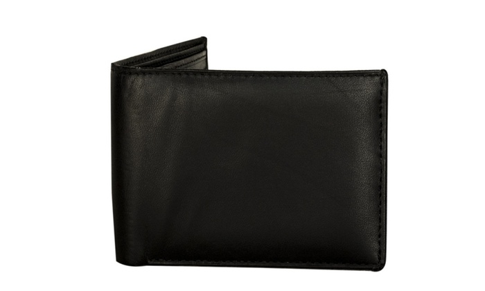 Sakkas Men's Bi-Fold Leather Wallet with 2 Size ID Card Slots