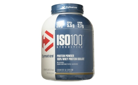 Dymatize Nutrition ISO 100 Whey Protein - Cookies and Cream 5 lbs.