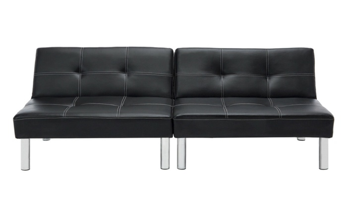Up To 52% Off on Futon Couch Folding Leather C... | Groupon Goods