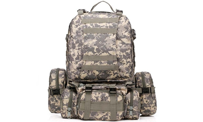 7657f84669f3 Up To 71% Off on 55L Molle Outdoor Military Ta... | Groupon Goods