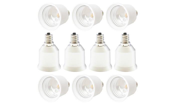 10Pc E12 to E26 E27 Candelabra Light Bulb Socket Base Enlarger Adapter