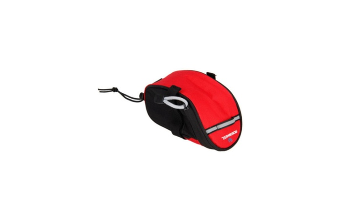 New Black&Red Bag Bike Bicycle Cycling Saddle Pouch Back Rear Seat