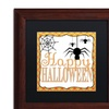 Jennifer Nilsson 'Halloween Spiders' Matted Wood Framed Art