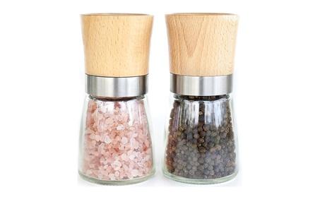 Willow & Everett Salt and Pepper Shakers -Wood Salt and Pepper Grinder 63ba0aa7-c6c4-4cea-89e6-fd4a1edbd770