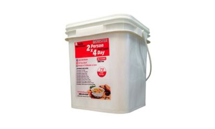 """""""""""Monster Size"""""""" 2-Person 4-Day Emergency Survival Food Supply"""