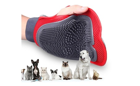 Pet Dual Sided Deshedding Brush Dog Cat Hair Removal Glove Grooming 563e4ba4-55ba-4ae3-84ee-d8fbffc8f2b9