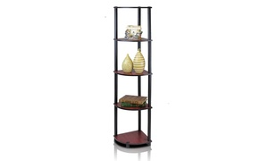 Furinno 99811 Turn-N-Tube 5 Tier Corner Shelf