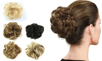 Natural Curly Messy Bun Hair Piece Scrunchie Hair Extensions
