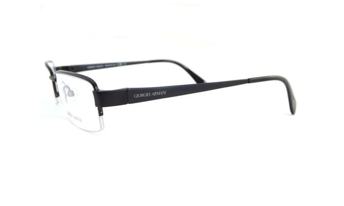 Giorgio Armani GA802 003 Black Titanium Metal Eyeglasses 53-18-140