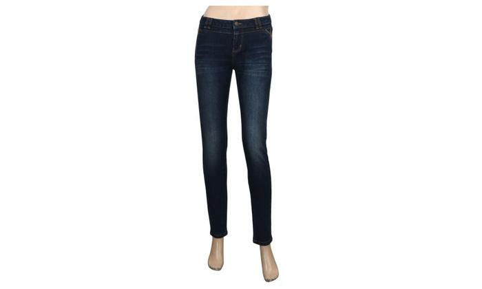 JNTworld Women Medium Waist Jeans Skinny Denim Jeans Tight Pants