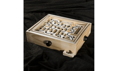 Labyrinth Wooden Maze Game with Two Steel Marbles, Puzzle Game by Hey! Play! 2701784b-b24a-4278-a44c-d41efcce2b0c