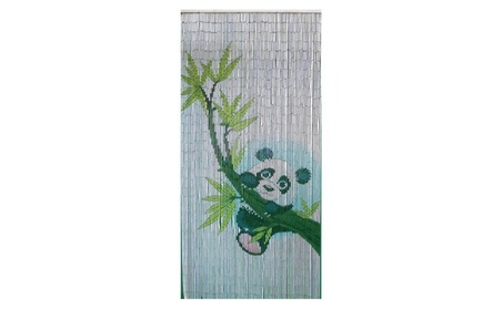 Bamboo Fifty Four 5281 Panda Scene Curtain 0532679e-b3a1-40ac-8ab8-3d0b6f9447df