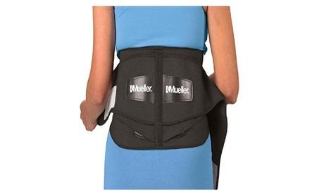 Mueller 255 Lumbar Support Back Brace with Removable Pad, Black, Regul 10a50bd6-10dd-4ec5-b634-e449fd43c63e