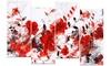 Red Orange Flower Trail Floral Metal Wall Art 48x28 4 Panels