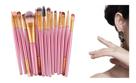 15 PCS Makeup Brushes Set For Ladies Brush Material-Synthetic Hair