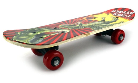 Mini Xtreme Cruiser Complete 17 Wooden Skateboard (Patterns May Vary) e9ce33b2-1afc-4383-a6f7-cc7386e6d2aa