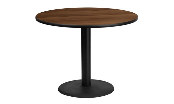 ... 42u0027u0027 Round Laminate Table Top With 24u0027u0027 Round Table Height Base