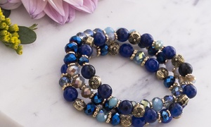 Catherine Malandrino 3 Row Multi-Colored Beaded Bracelets