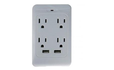 1st Shop Top Premium Four Outlet & 2 USB Surge Protector Trendy Gadget 01435b97-16d5-4671-b129-0cb9d40c8d73