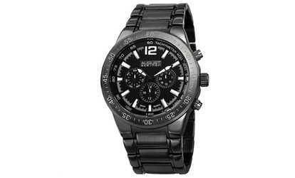 90b995bf2e58a Shop Groupon August Steiner Men s Quartz Multifunction Bracelet Watch  ASGP8128BK