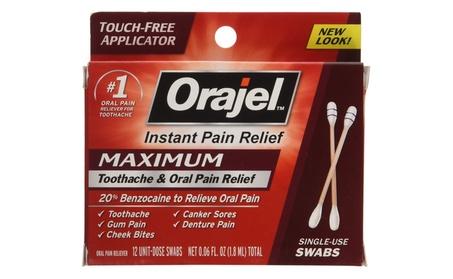 Orajel 0.42 oz. Pain Reliever For Toothache, Maximum Strength, Gel 97a27e4d-80ab-443b-9eb7-dfebd884f625