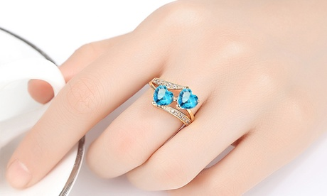 Leo Rosi Created Cubic Zirconia Heart Ring Valentines Day's Gift