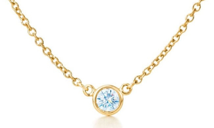 5d74f3c0b60d0 Suzy Levian 14k Yellow Gold 2/5ct TDW Bezel Diamond Solitaire Necklace