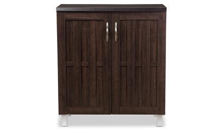 Excel Modern and Contemporary Dark Brown Sideboard Storage Cabinet