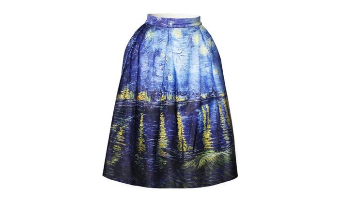 3D Water Printed Thin Digital Tie-dyed Skirt BSQ 015
