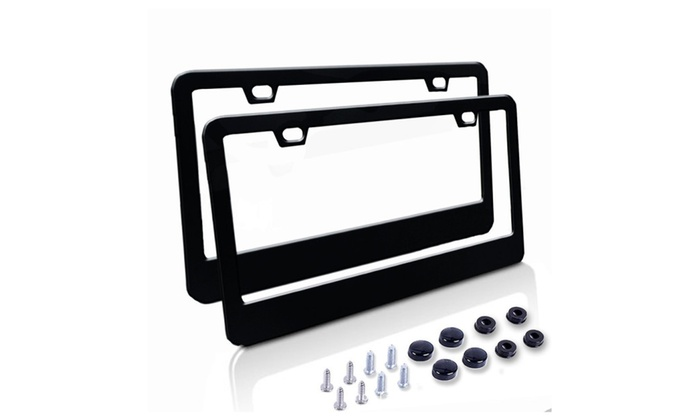 Stainless Steel License Plate Frame Front And Back Frames