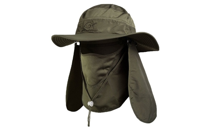 b4292a05368 Outdoor Sun Protection Fishing Cap Neck Face Flap Hat Wide Brim ...