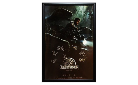 Jurassic World - Signed Movie Poster in Wood Frame with COA b54ba5dc-0cbc-4b8d-b963-54427444d6e7