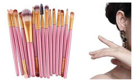 15 PCS Makeup Brushes Set For Ladies Brush Material-Synthetic Hair