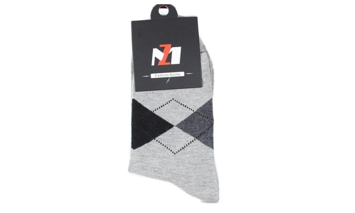 Men Socks Fashion Flax In Tube Cotton Socks Casual 5-Pairs