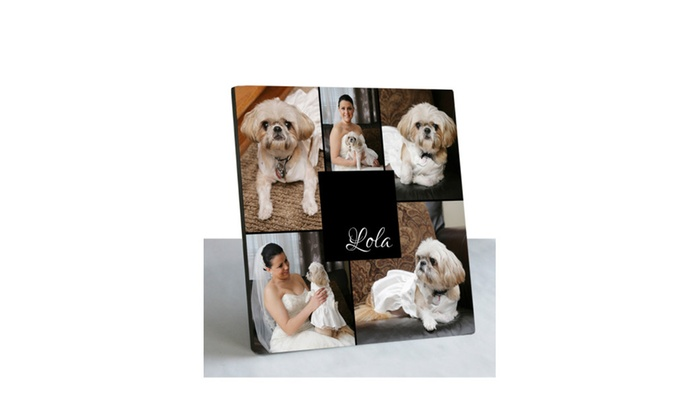 Personalized Photo Collage Custom Picture Frame 10x10 | Groupon