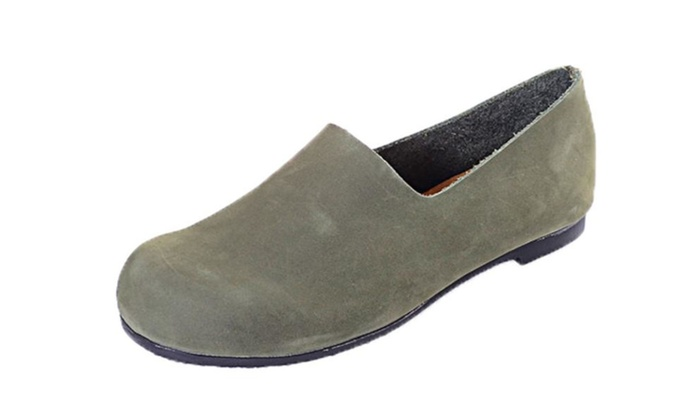 Women's Slip on Leather Flats Shoes