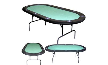 84 inch Texas Holdem Green Felt Poker Table 6400f246-c5b8-4c3c-bc19-e0e7cd4396be