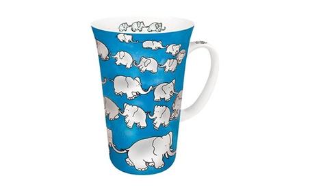 Konitz 4410100018 Mega Mugs Chain of Elephants Blue - Set of 4 52e8ab2f-de7f-49b4-92b3-9d730ce6b2d8