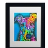 Dean Russo 'What Ya Thinking Bout?' Matted Black Framed Art