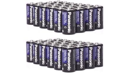 48 Pack Panasonic Super Heavy Duty C Batteries
