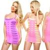 Angelina Seamless Mix-Match Layering Dress, Pink w/ Cutouts