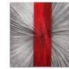 Red Stripe Clock - Modern Metal Wall Clock