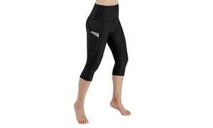 ODODOS High Waist Pocket Yoga Pants (Tummy Control), XX-Large