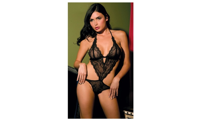 Women's Black Lace Lingerie Three Piece Best UWL138