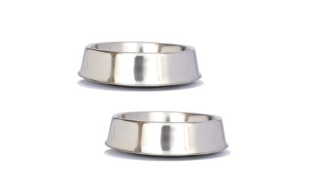 2 Pack Anti Ant Stainless Steel Non Skid Pet Bowl for Dog or Cat 295be8fd-5d4b-4c58-b653-b139fc3b9201
